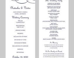 Wedding Program Templates For Word Under Fontanacountryinn Com