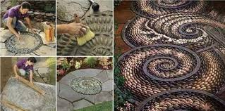 10 Great Decorate With Miniature For Cute Gardens 6Pebble Mosaic Mosaic Garden Path