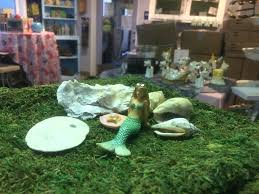 mermaid fairy garden catching some rays mermaid fairy garden kit