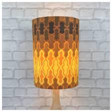 Lamp Shade Extra Tall Vintage Retro 60s Barkcloth - Retro68