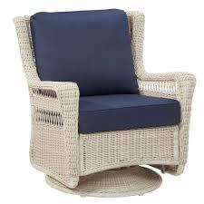 wicker swivel rocker patio chairs new hampton bay park meadows f white swivel rocking wicker outdoor