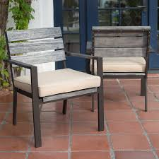 Belham Living Silba Envirostone Faux Wood Patio Dining Chair