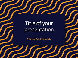 Blue And Orange Powerpoint Template Blue Yellow Wavy Pattern Powerpoint Template