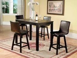 Image Lovable Modern Dining Room Design With Comfortable Black Counter Height Kitchen Tables Black Leather Dining Chairs Detainee 063 Modern Dining Room Design With Comfortable Black Counter Height