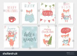 Set 8 Hand Drawn Postcards Cute Stock Vector Royalty Free