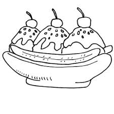 Small Picture Coloring Banana Split Coloring Page Coloring Coloring Pages