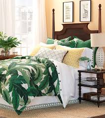 lanai green tropical bedding banana leaf bedding tropical foliage bedding dark green