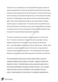 animal farm essay co animal farm essay