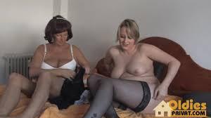Big tits granny has lesbian sex with a plump cutie Shameless