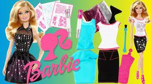 Doll Dress Design Kit Barbie Sparkle Studio Glitter Clothes Designer Fashion Kit Decorate Doll Dresses