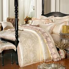4 pieces white jacquard silk cotton luxury bedding set king size queen bed set lace duvet cover bed sheet pillowcase