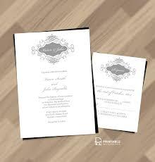Beautiful Wedding Monogram Free Invitation And Rsvp