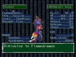 Digimon World 1 Digivolve Chart Digimon World 2 How To Get Flamedramon
