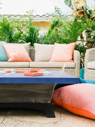 create a colorful comfortable spot outside that s fun for the w