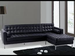 the black leather sectional couch for