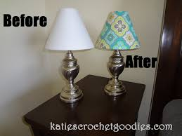 lamp shades before and after recovering