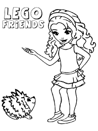 Small Picture Lego Friends coloring pages Free Printable Lego Friends coloring