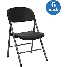 folding chairs plastic. Black Plastic Folding Chair, Set Of 6 Chairs I