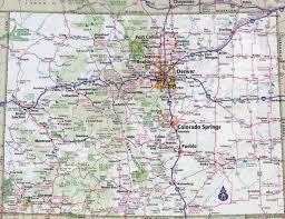 large detailed roads and highways map of colorado state with all