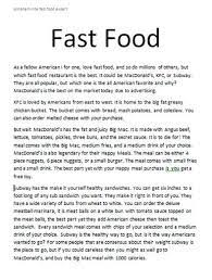 food essay topics fast food and obesity who s to blame com