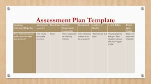 Assessment Plan Template Evidence Of Student Learning Ppt Download 12