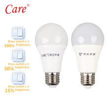Switch 100 Led Light Bulb Care Globe Bulb Led Light Bulb 9w 11w E27 6500k Three Stage