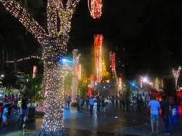 Christmas Lights Santa Cruz Esc830 Plaza 24 De Septiembre Santa Cruz Ian Jeffries Flickr