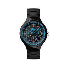 borneo watch black blue silicone strap lacoste
