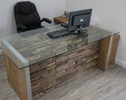 rustic wood office desk. rustic wood office desk furniture etsy u
