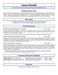 Resume Sample For General Office Clerk Position Data Entry Resume