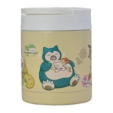 Snorlax Yawn Kabigon Stainless Food Pot Jar Pokemon Center Japan ...