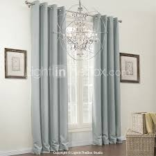 Living Room Curtains And Drapes Two Panels Curtain Modern Solid Living Room Polyester Material