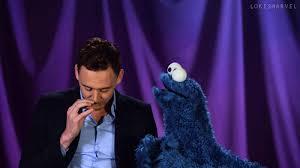 cookie monster tom hiddleston gif. Unique Cookie Tom Hiddleston GIF In Cookie Monster Gif O