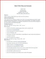 Bank Teller Description For Resumes Bank Teller Resume Description Emelcotest Com