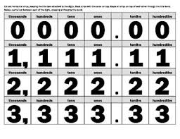 Place Value Flip Chart Worksheets Teaching Resources Tpt