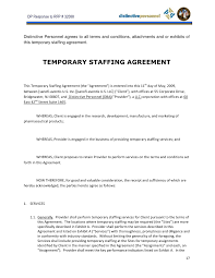General Staffing Agreement Template Staffing Agency Agreement ...