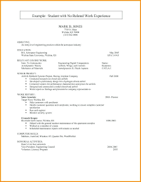 Resume With No Work Experience Template Best Resume Templates For No Work Experience Resume Templates No Work