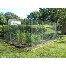 x 25 ft green plastic garden fence