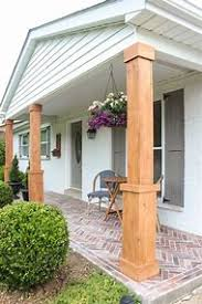 Front Porch With Brick Columns