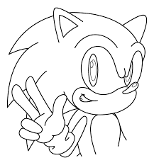Small Picture Coloring Pages For Kids Sonic The Hedgehog Printable Coloring