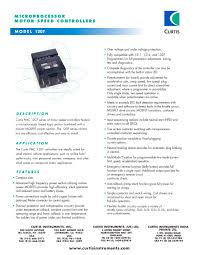 motor speed controllers 1207 curtis instruments pdf catalogue motor speed controllers 1207 1 2 pages