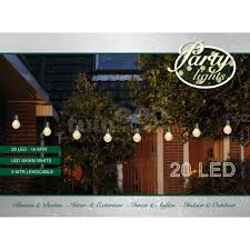 Partylights 20 Witte Led Lampen Warm Wit 10m Tuincollectienl