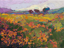 texas wildflowers original oil painting landscape by contemporary impressionist erin hanson