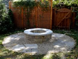 a stand alone modular fire pit area in a steel edged ring of