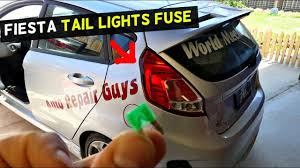 Ford Fiesta Tail Lights Fuse Location Replacement Mk7 St