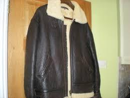 mens original shearling sheepskin leather jacket