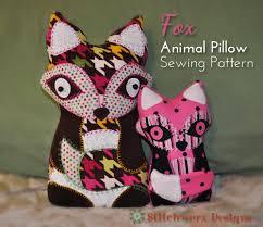 Pillow Sewing Patterns Stunning Fox Animal Pillow Sewing Pattern Stitchwerx Designs