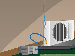 air conditioning fitting. image titled install a split system air conditioner step 11 conditioning fitting