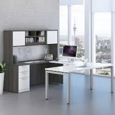 modern u shaped desk storage workstation