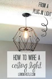 plug in hanging light fixture how to wire a ceiling pendant converting hanging light fixture plug